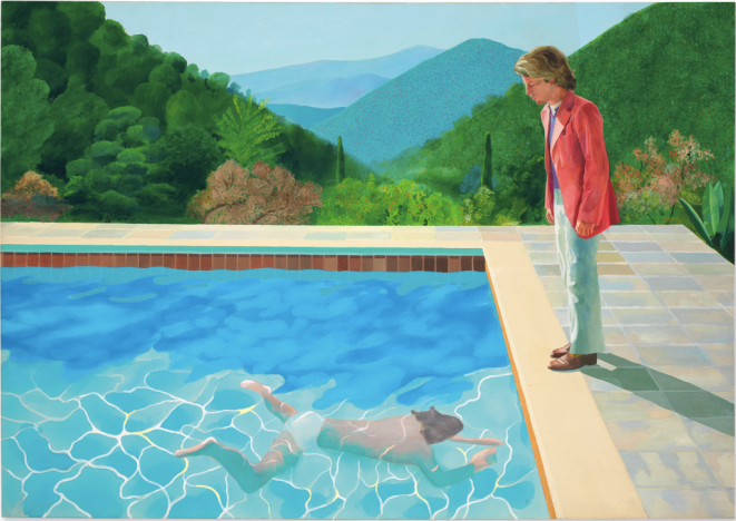 Hockney - Pool with Two Figures