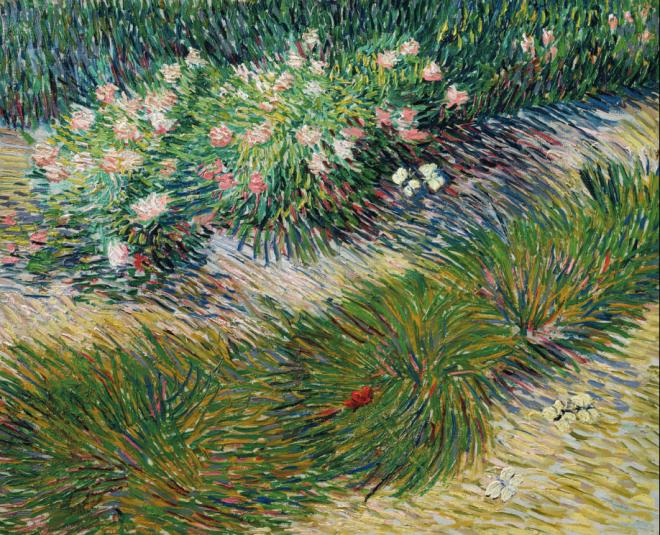 Van Gogh - jardin avec papillons
