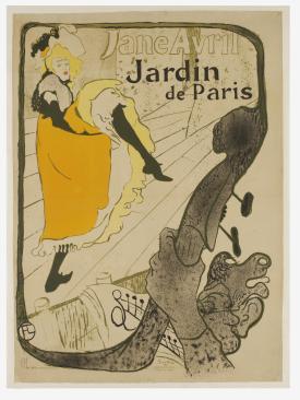 Henri Toulouse-Lautrec, Jane Avril au Jardin de Paris, 1893, lithographic poster.